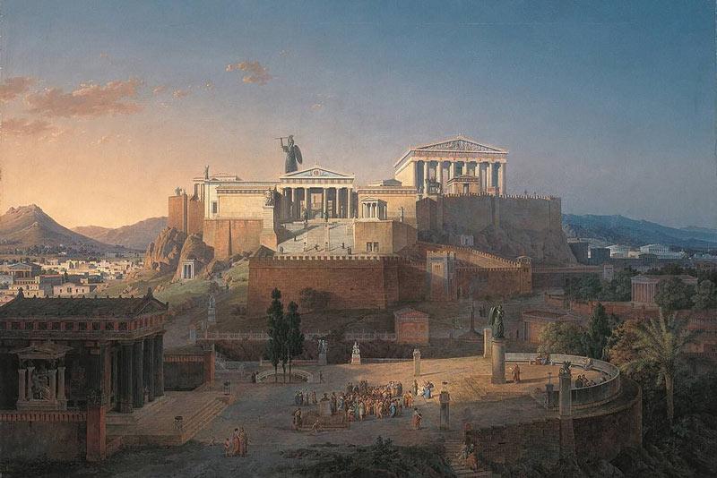 Leo Von Klenze, Acropoli di Atene, 1846