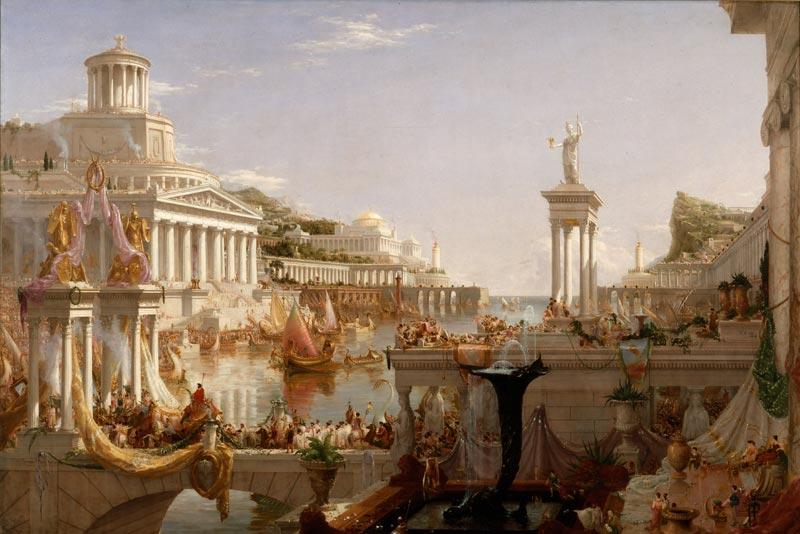 Thomas Cole, Il corso dell'impero - Il compimento dell'impero, 1836