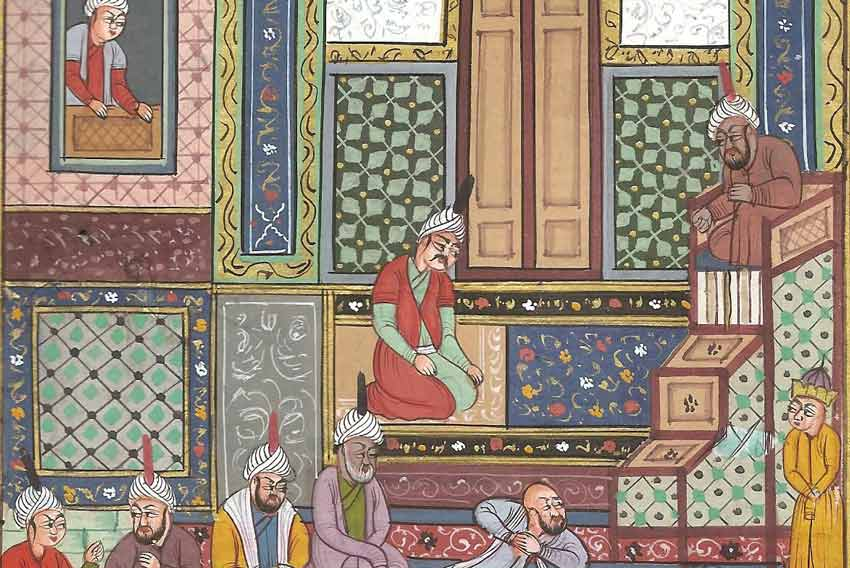 Persian Miniature Painting from Diwan of Hafiz by Shaykh Zadeh
