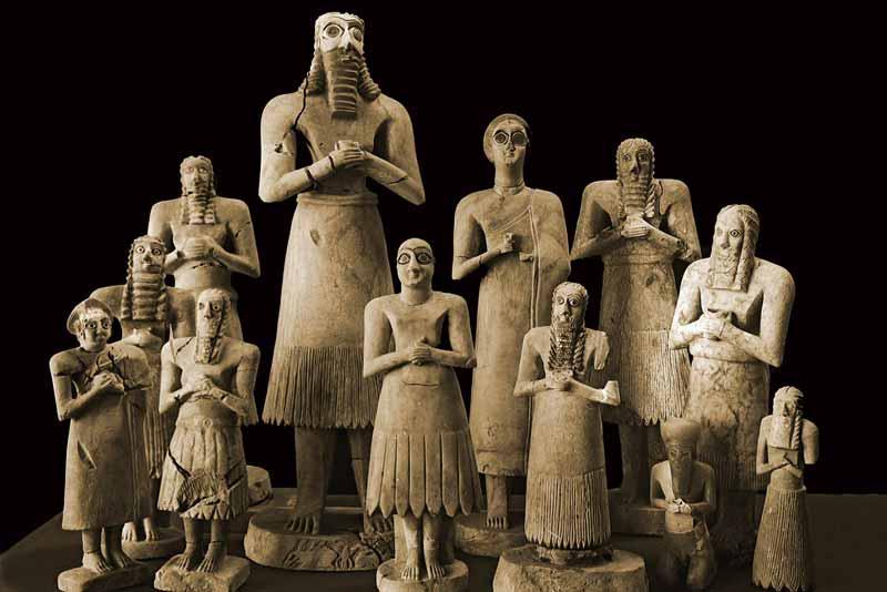 Arte sumera statuette gilgamesh