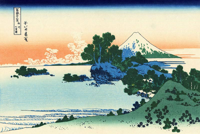 Katsushika Hokusai, Spiaggia d Shichiri nella provincia di Segami