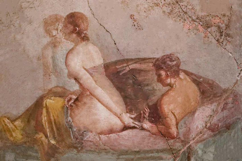 Affresco erotico Pompei satyricon