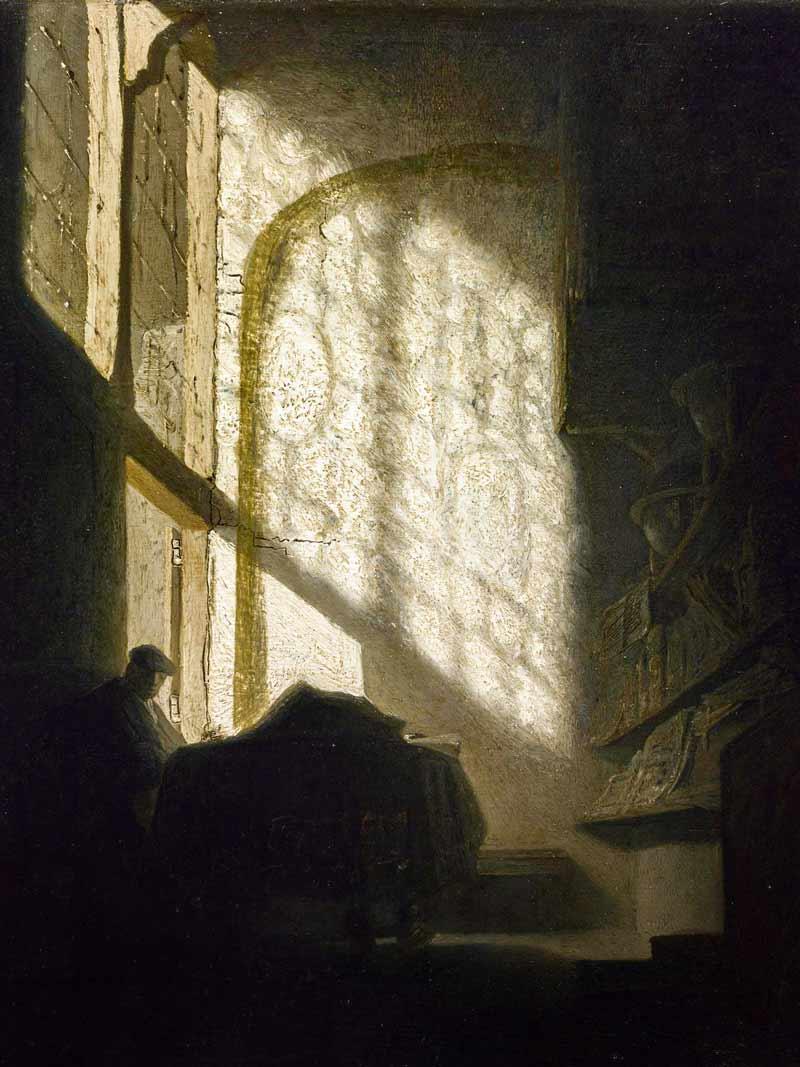 Rembrandt van Rijn, Uomo in una stanza, 1630