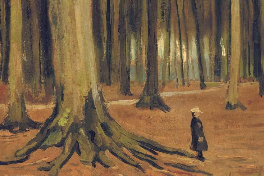Vincent Van Gogh, Ragazza nel bosco, 1882