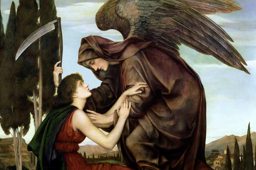 Evelyn de Morgan, L'angelo della morte,1881