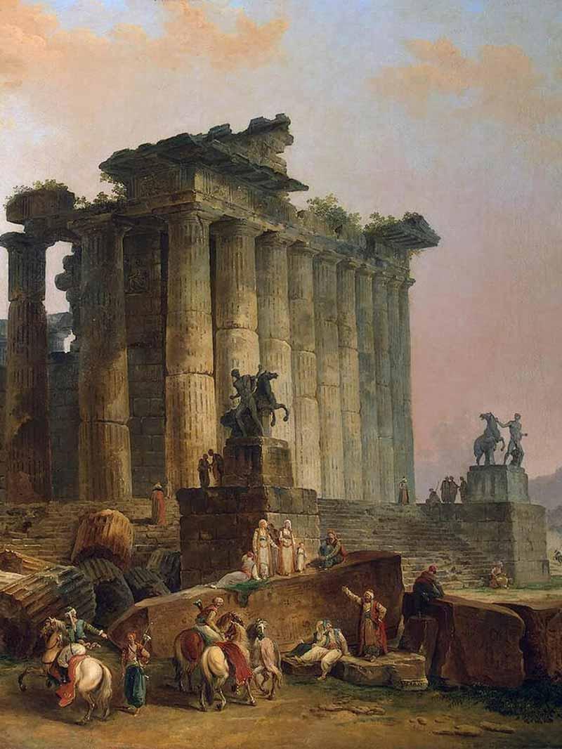 Hubert Robert, Rovine di un tempio dorico