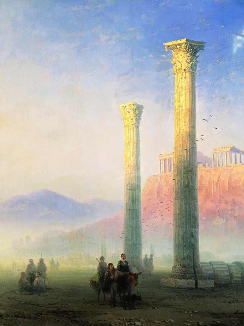 Ivan Aivazovsky, L'acropoli di Atene, 1883