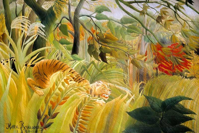 Henri Rousseau, Tigre in una tempesta tropicale, 1891
