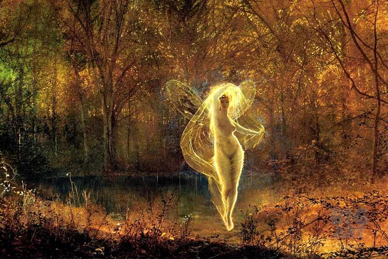 John Atkinson Grimshaw, La dama dell'autunno ha un viso desolato, ,1871 Fate