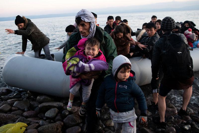 Migranti in grecia (credits: The New York Times)