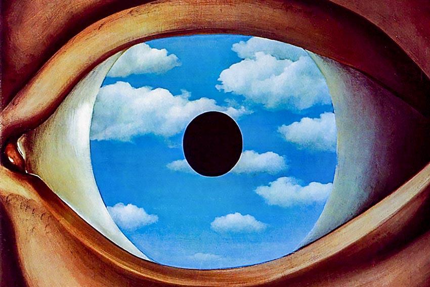 René Magritte, Il falso specchio, 1928.jpg