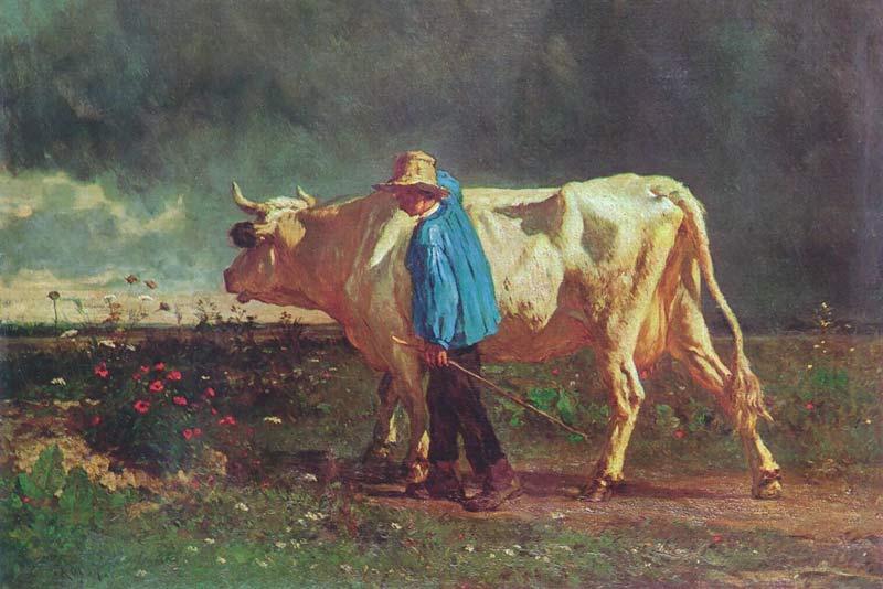 Constant Troyon, Il mandriano, 1860