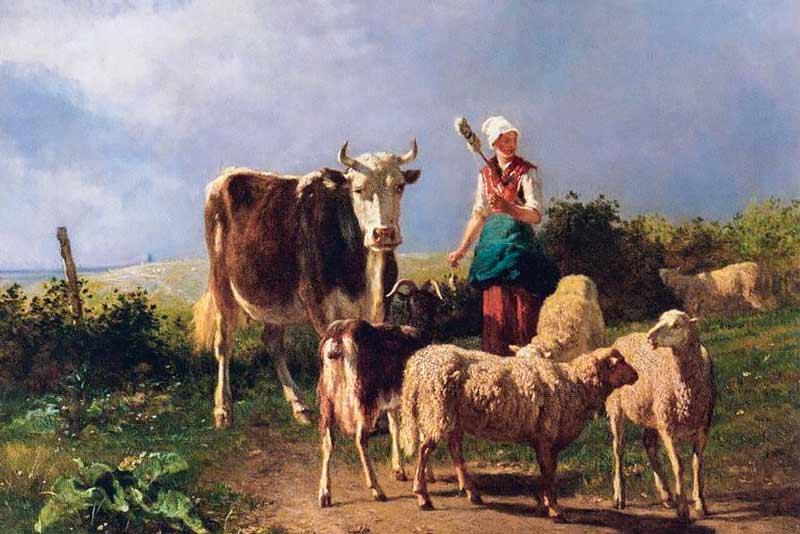 Constant Troyon, Ritorno della gregge, 1860
