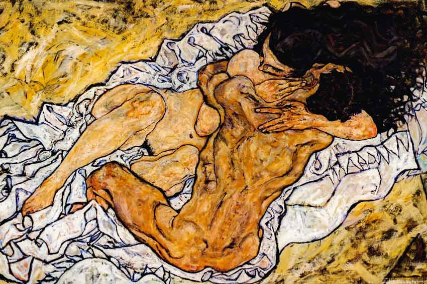 Egon Schiele, L'abbraccio