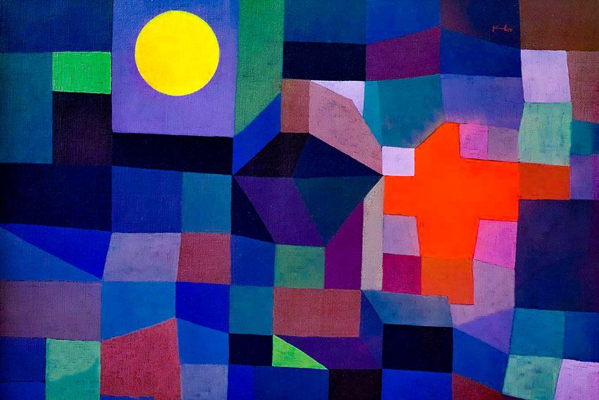 Paul Klee, Fuoco con la luna piena, 1933