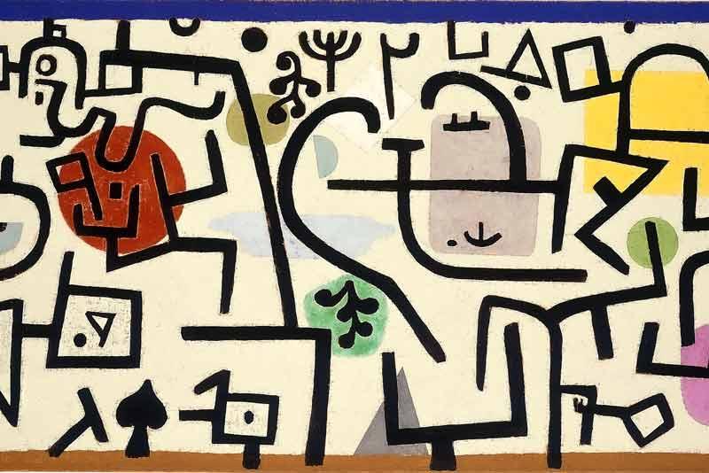 Paul Klee, Porto fiorente, 1938 (particolare)