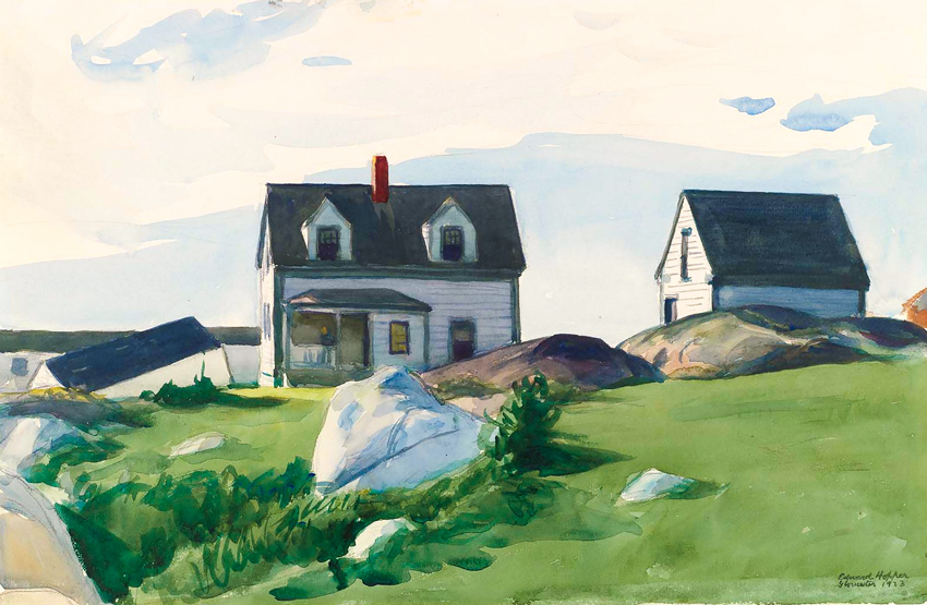 Edward Hopper, Houses of squam light William Saroyan