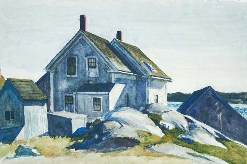 Edward Hopper, Casa di Fort, Gloucester, 1924