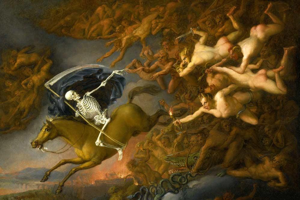 Anonimo, Scuola inglese, La morte conduce il suo esercito XIX secolo