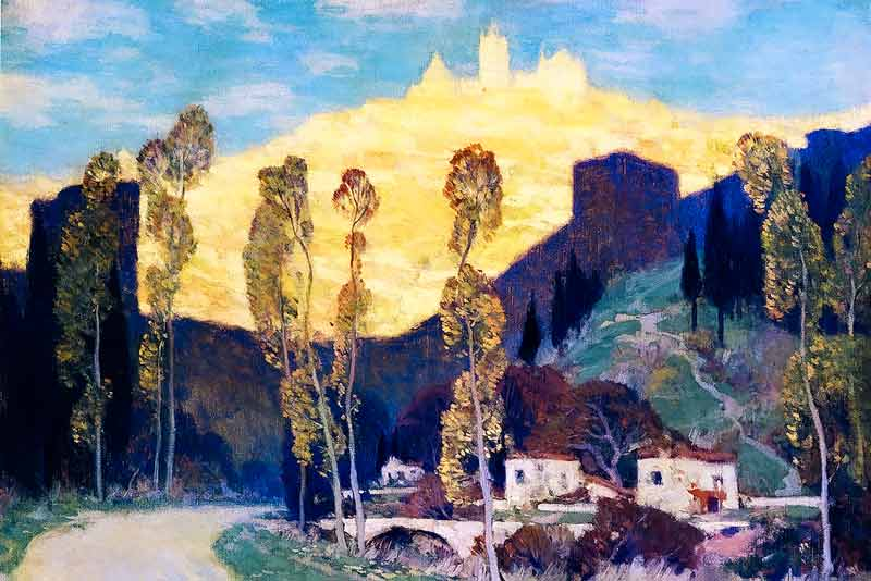 Clarence Gagnon, Sera a Siena, 1911