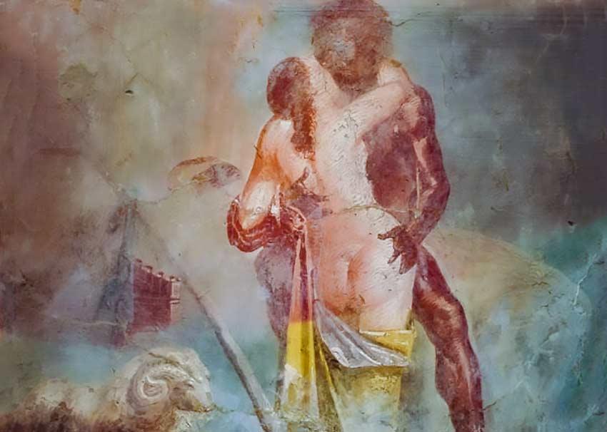 Polifemo e Galatea, affresco, Pompei.