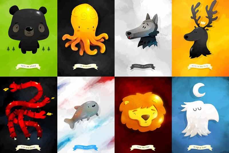 Vedete, George R. R. Martin di Game of Thrones conosce perfettamente l'importanza degli emblemi. Se solo la smettesse di ammazzare i personaggi come fossero mosche...