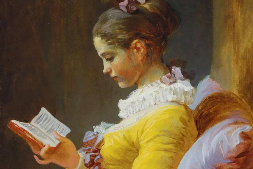 Gustare la letteratura: Jean Honoré Fragonard, Giovane ragazza che legge, 1776