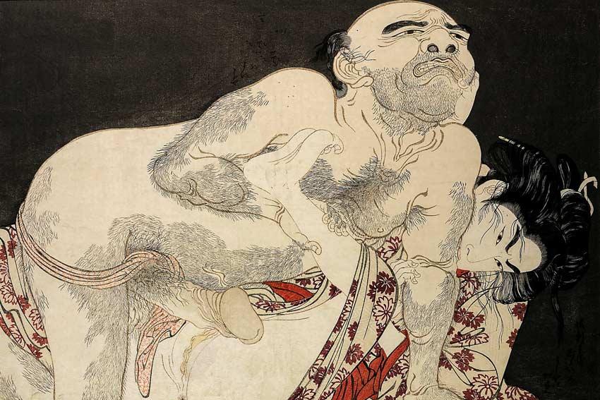 Kitagawa Utamaro, stampa dal libro Il canto della voluttà. 1786