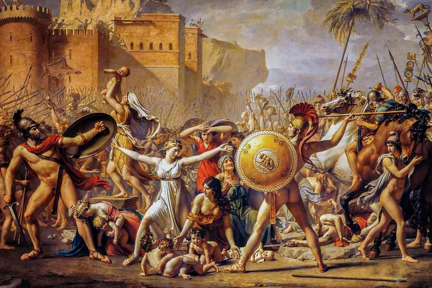 Jacques Louis David Il ratto delle Sabine, 1795-1799