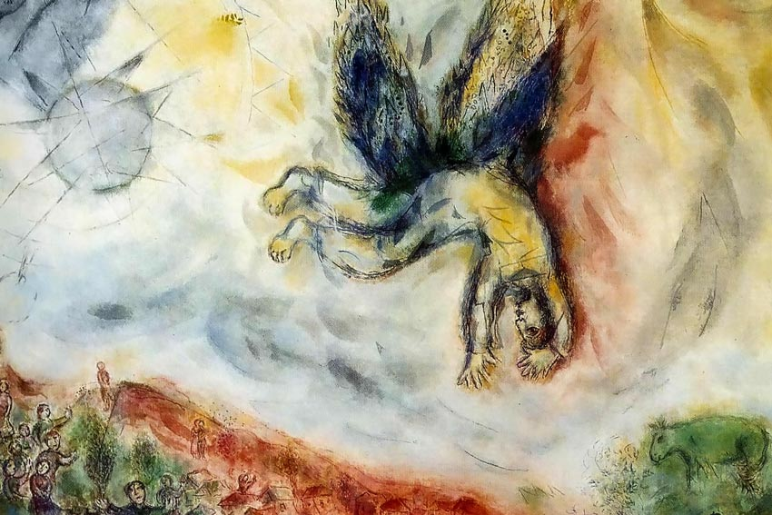 Marc Chagall, La caduta di Icaro