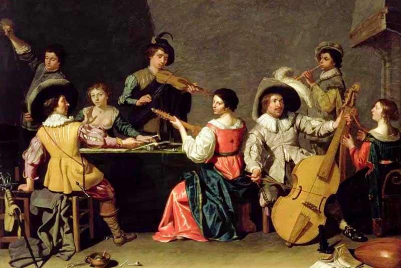 Jan van Bijlert Gruppo di musicisti 1640
