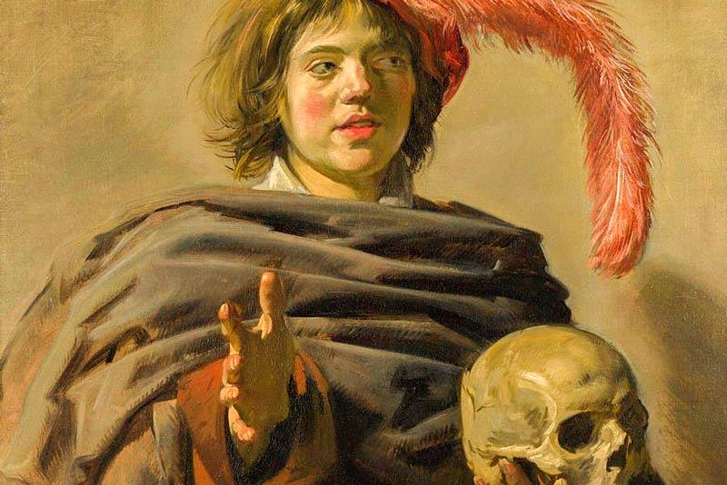 Frans Hals, Giovane uomo con teschio, 1626-1628