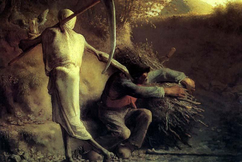 Jean Francois Millet, La morte e il taglialegna, 1849