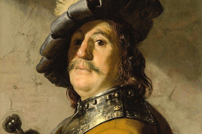 Rembrandt, Un guerriero, 1626-1627