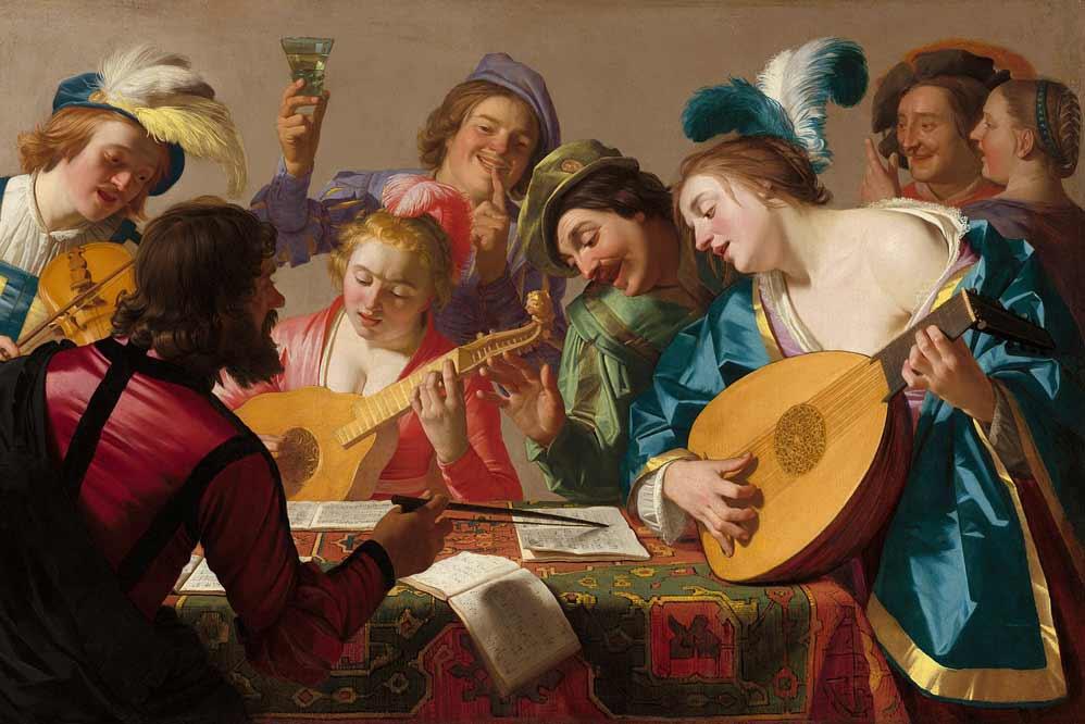 gherardo delle notti, musicanti. Le Jacaras erano nate in questi contesti