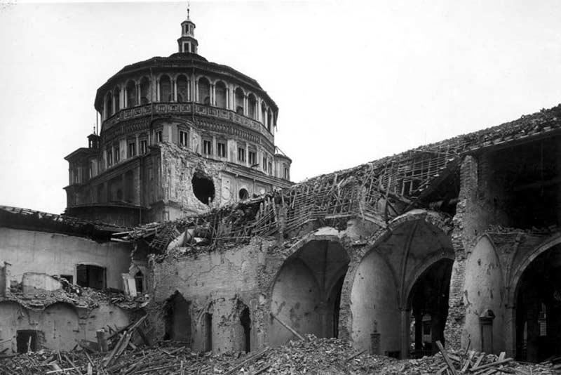 Santa Maria delle grazie bombardata