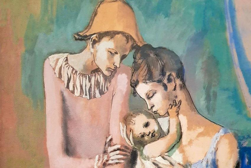 Pablo Picasso, La famiglia di arlecchino