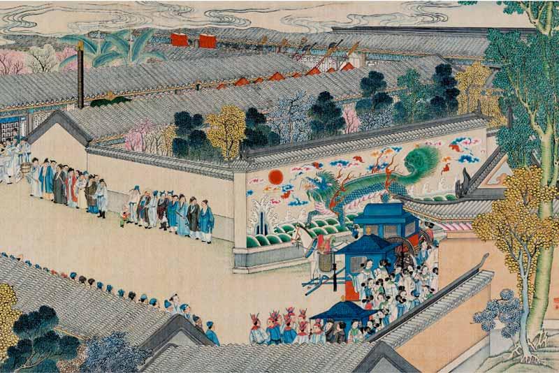 Sun Wen, L'arrivo della processione imperiale