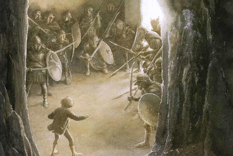 Alan Lee, The last trick of the Ring, 2005. Illustrazione del Signore degli Anelli