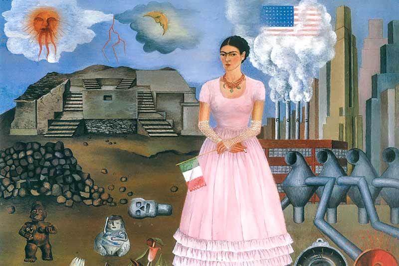 Frida Kahlo, Autoritratto al confine tra Messico e Stati Uniti, 1932