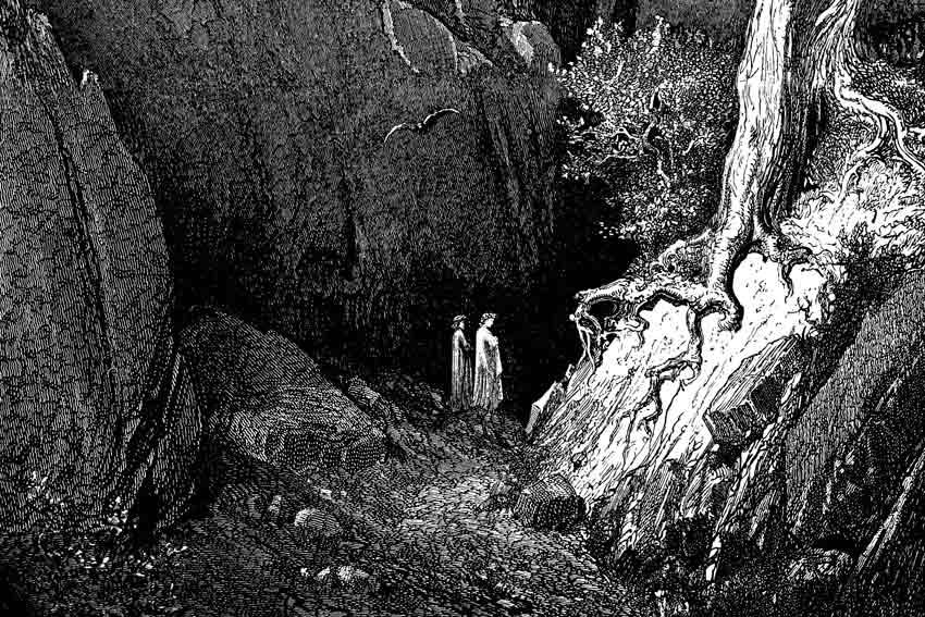 Gustave Doré, Dante e Virgilio nella selva, 1857