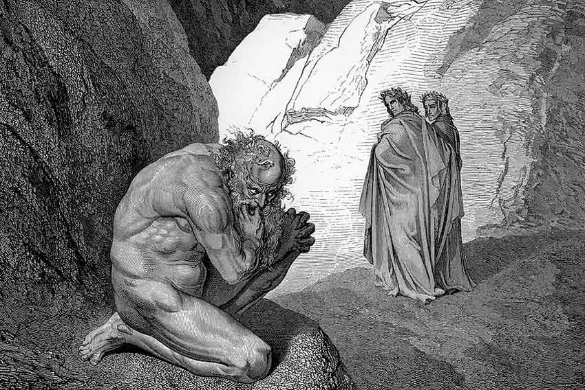 Gustave Doré, Dante e Virgilio, Plutone, 1857