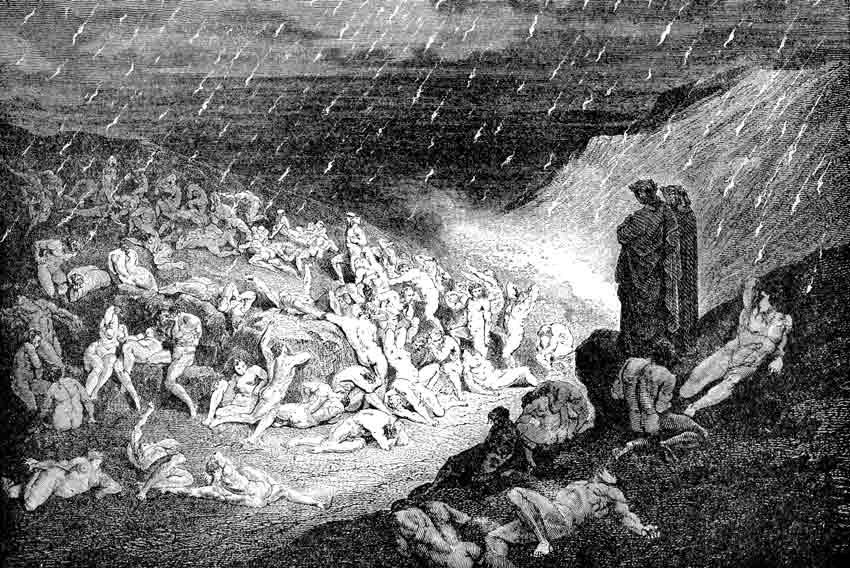 Gustave Doré, Dante nel girone dei violenti