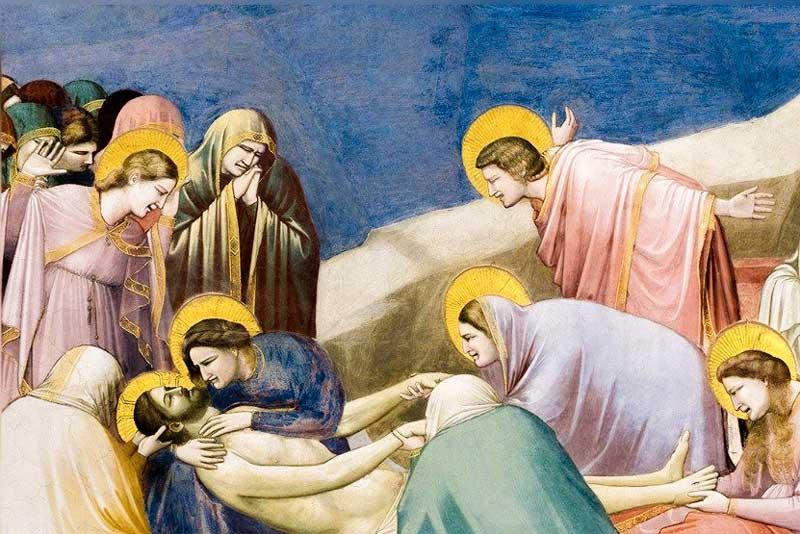 Giotto, Compianto sul Cristo Morto, Cappella degli Scrovegni, Padova, 1303-1305 (particolare)