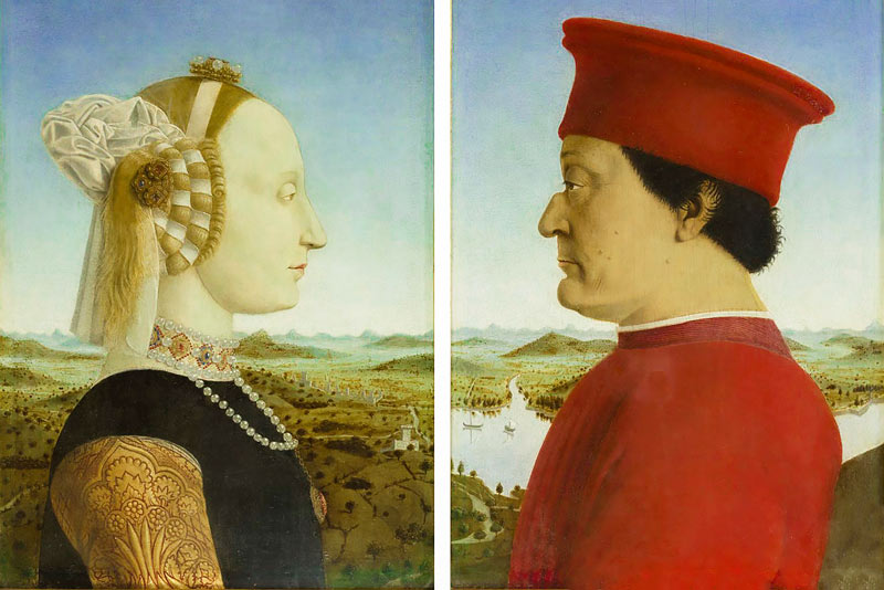 Piero della Francesca, Dittico dei duchi di Urbino, 1465-1472
