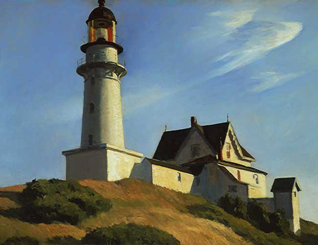 Edward Hopper, Il faro a due luci, 1929