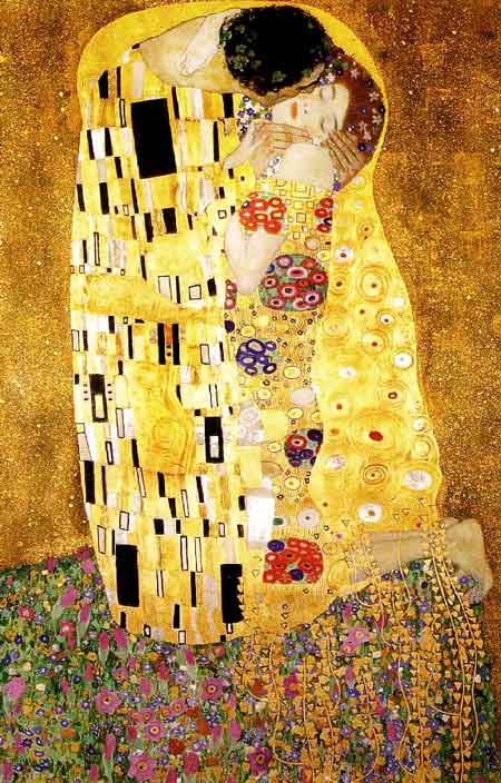 Gustav Klimt, Il bacio, 1907.1908