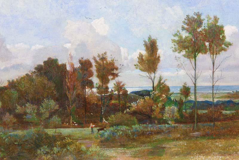 Nino Costa Paesaggio nelle vicinanze del mare 1885