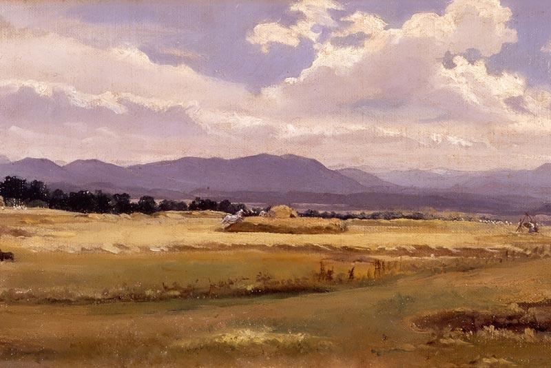 Nino Costa Trebbiatura nella campagna romana 1854