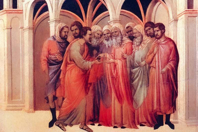 Duccio di Buoninsegna, Tradimento di Giuda, 1311